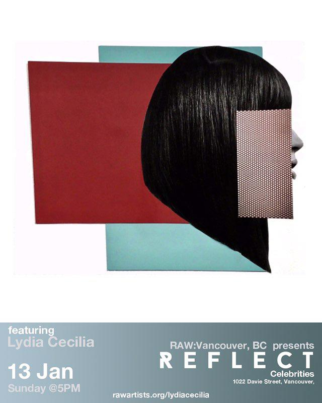 RAW Reflect event featuring lydiacecilia.art, Collage on gender and diversity. Vancouver, 13 Jan at Celebrities!